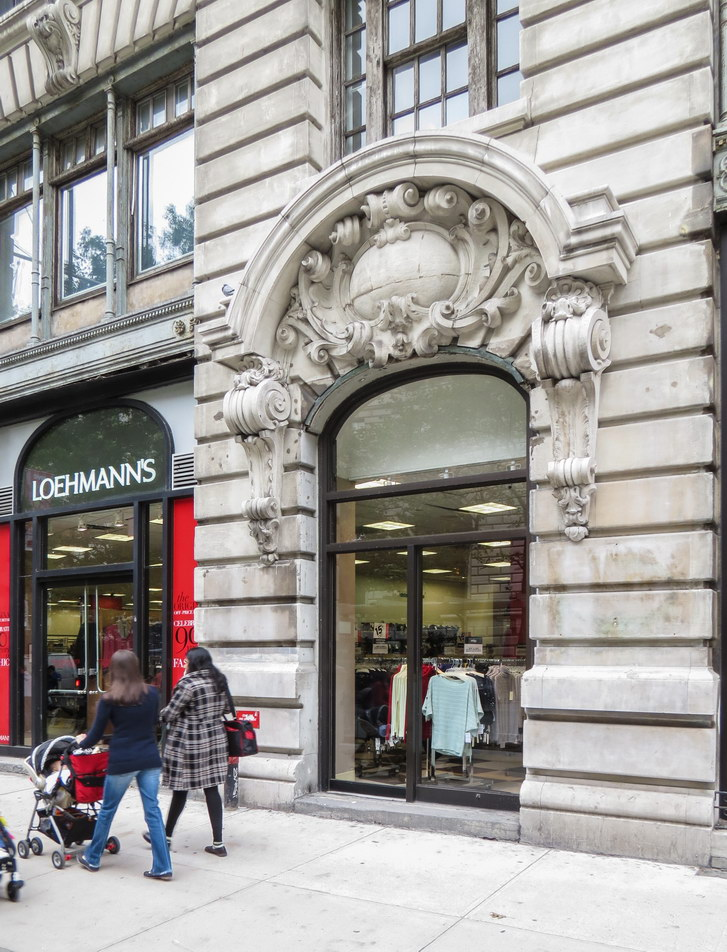 Modern storefronts.