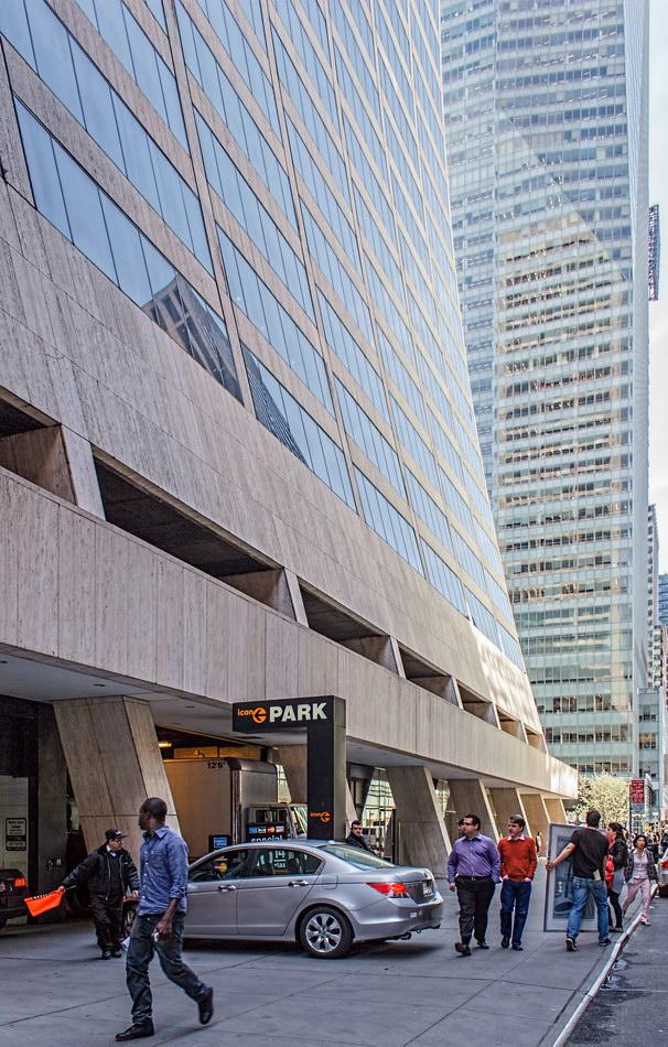 Underground parking on W 43rd Street