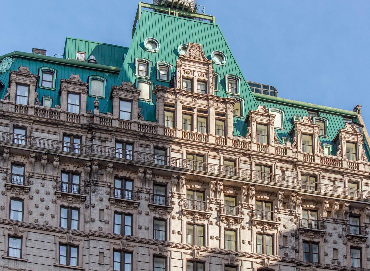 Detail, 32nd Street facade.
