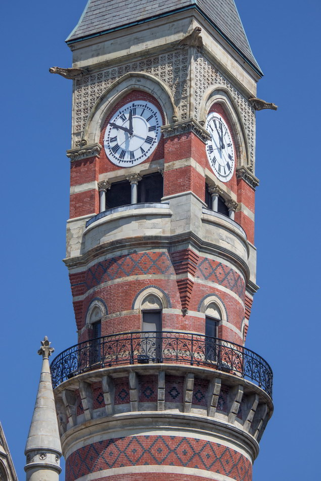 Jefferson Market Courthouse clock tower.