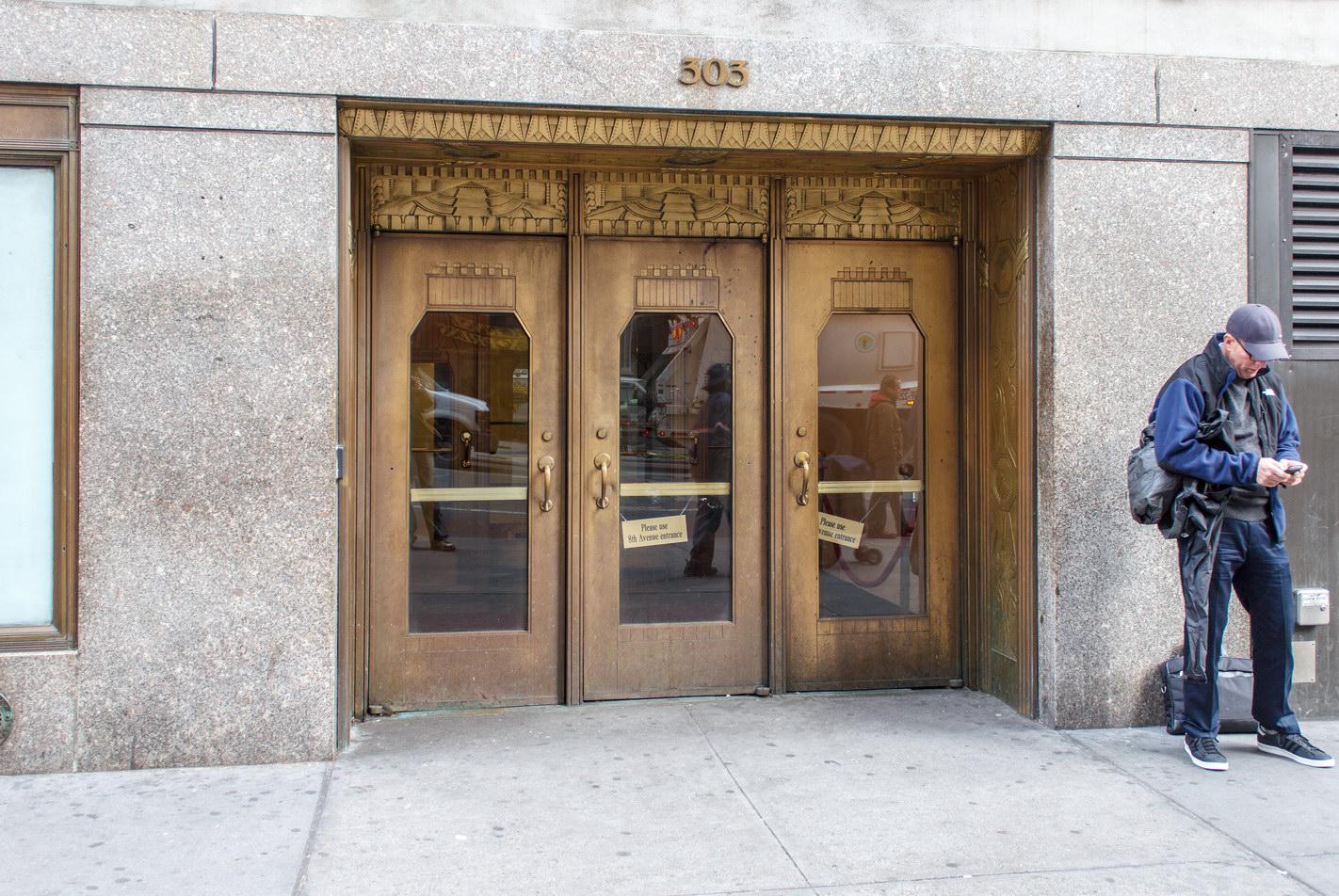 A side entrance (W34th Street).