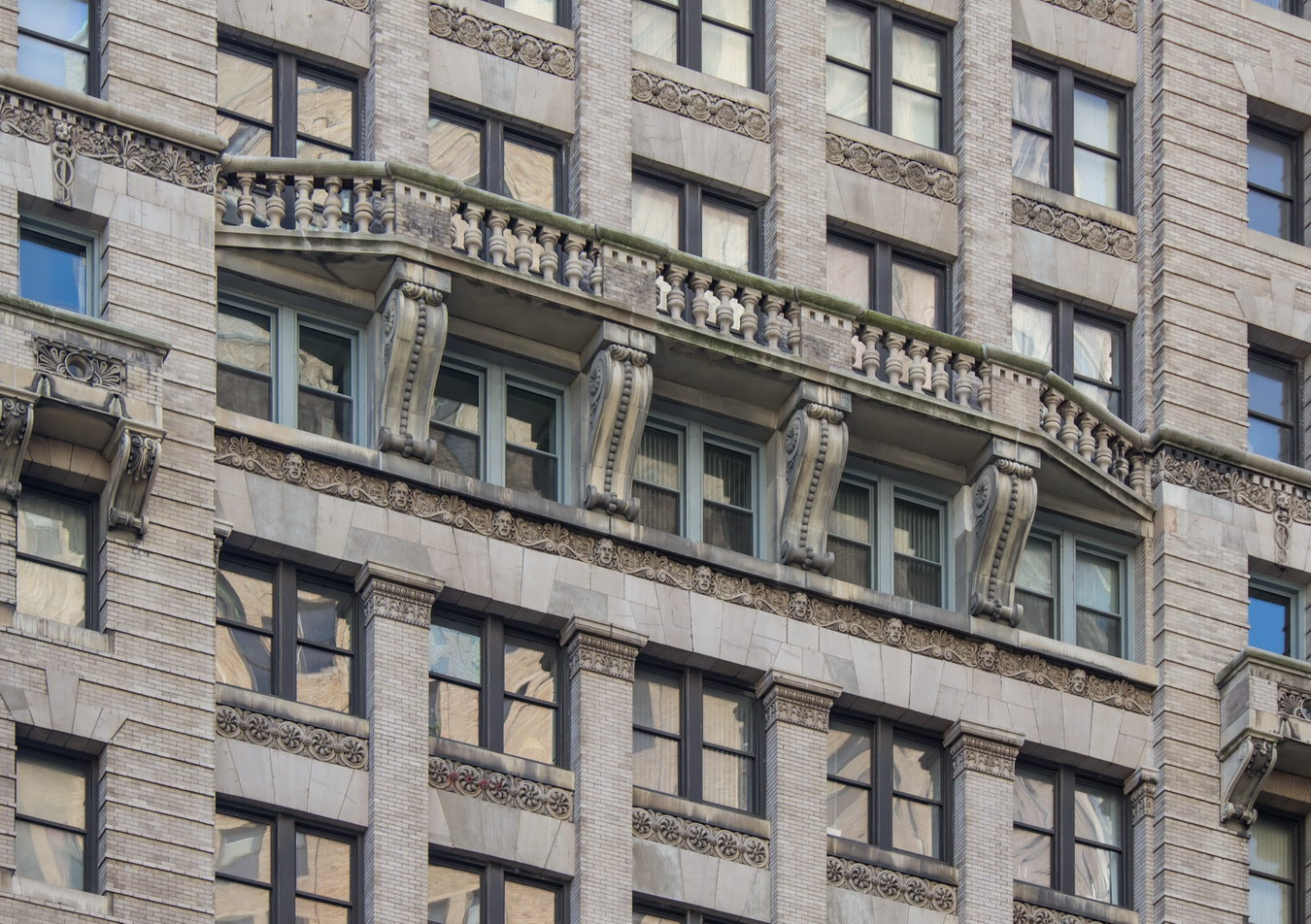 The balconies are strictly decorative.