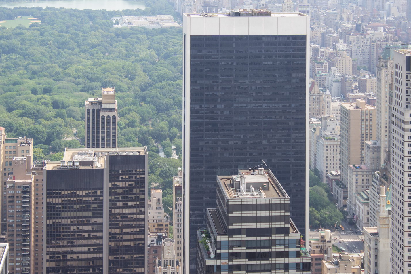 The 50-story Solow Building has commanding (and expensive) views of Central Park.