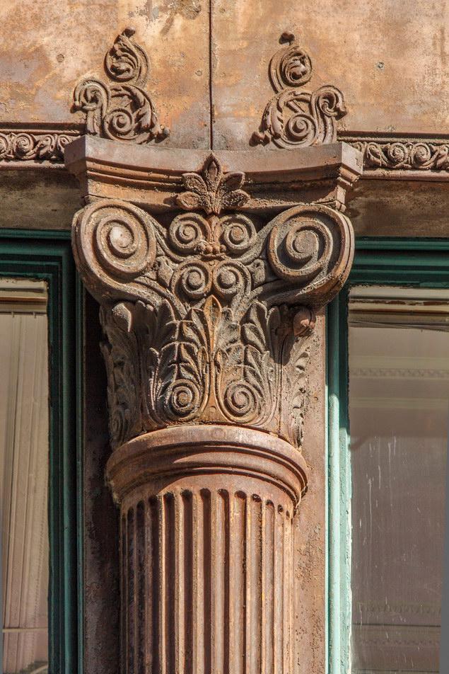 The Wilbraham - cast iron detail.