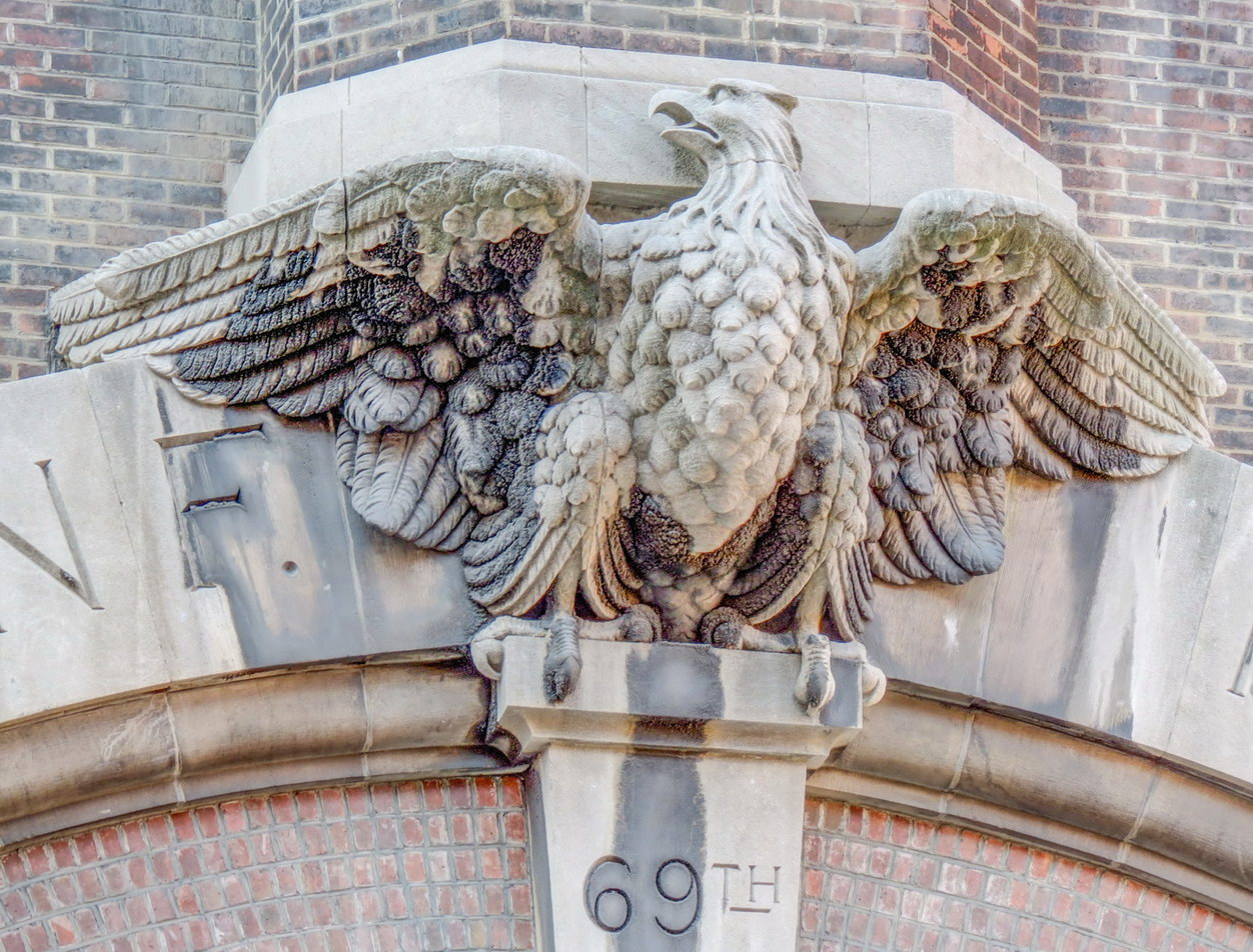 69th Regiment Armory - Lexington Avenue between East 25th and East 26th Streets.