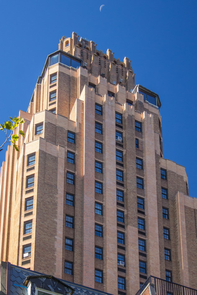 The 28-story Beekman Tower Hotel was originally conceived in 1921 as a 14-story residence for female college grads.