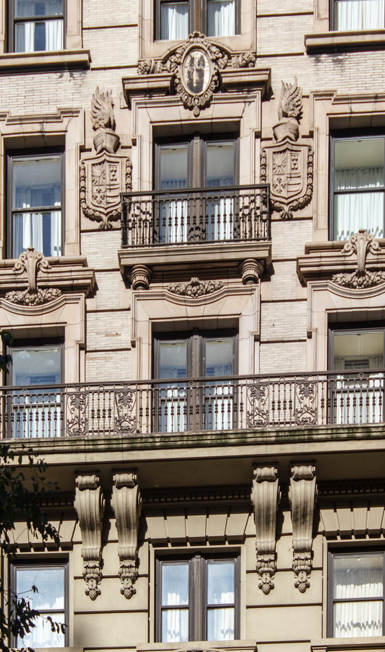 Detail, 32nd Street facade.