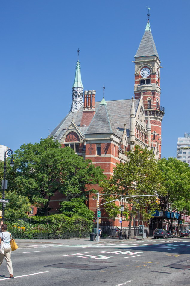 Jefferson Market Courthouse - now a branch of the NY Public Library - 6th Avenue at Christopher Street in Greenwich Village.