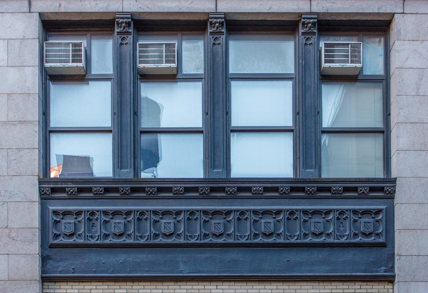 Second floor window detail.