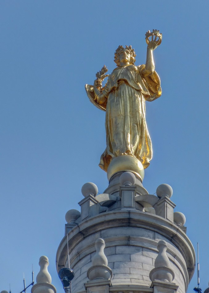 """Civic Fame"" is the third-largest statue in New York City."