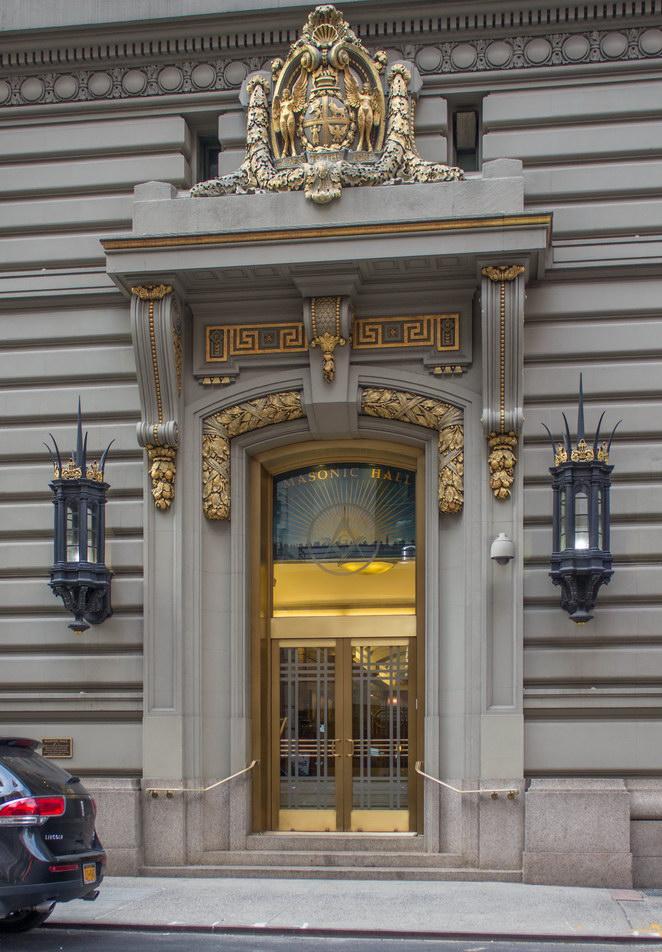 Masonic Hall entrance on W24th Street.