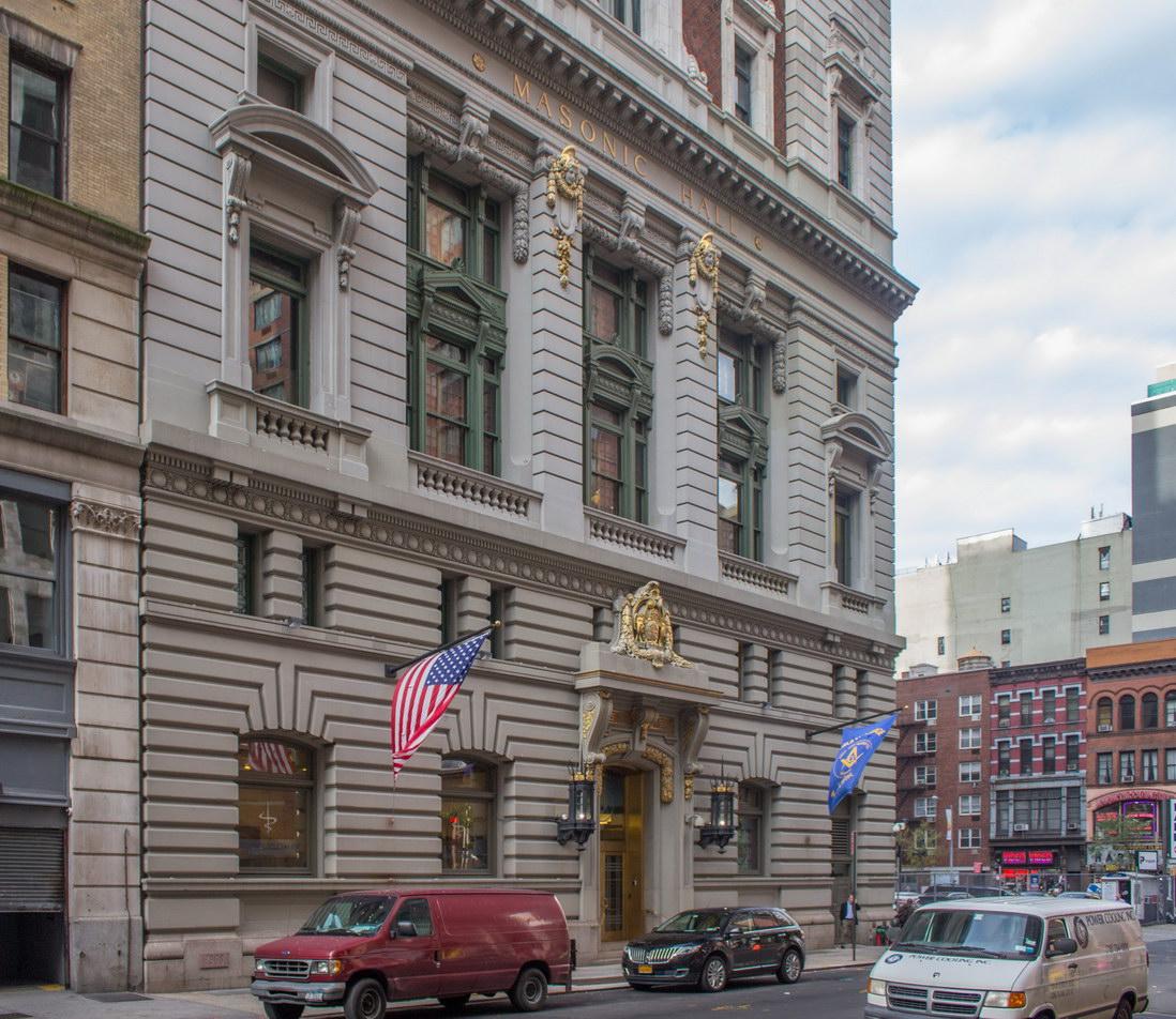 Masonic Hall - W24th Street facade.