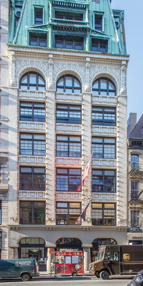 Art Nouveau in the SoHo Cast Iron District.