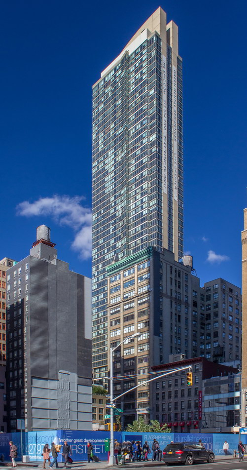 The Epic has commanding views of midtown Manhattan.