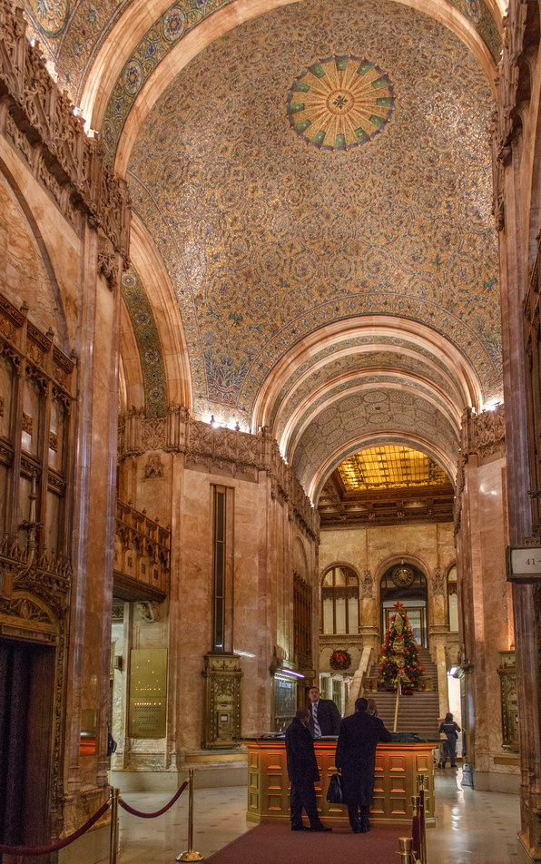 The spectacular lobby is also a NYC Landmark.